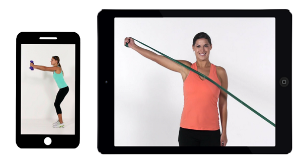 Exercise Pro Live phone tablet exercises
