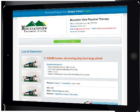 Exercise Pro Live patient portal