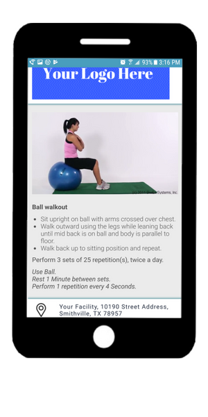 exercise Now app home exercise