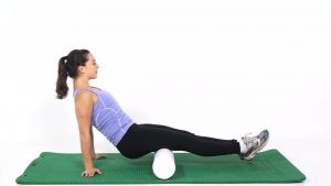 Hamstring on foam roll