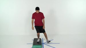 functional heel touch step down